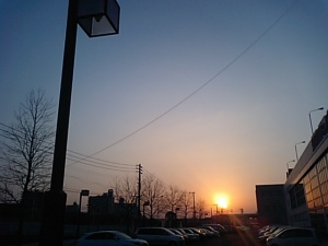 北九州の夕日