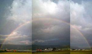 先日見たすごい虹